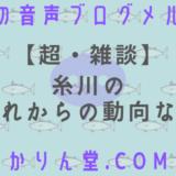 本日の音声ブログメルマガ[No.41:【超・雑談】糸川のこれからの動向など]